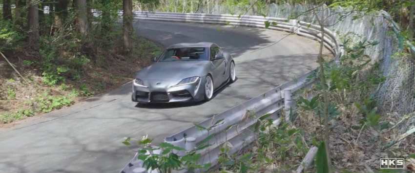 VIDEO: HKS tests exhaust, suspension for A90 Supra Image #961405