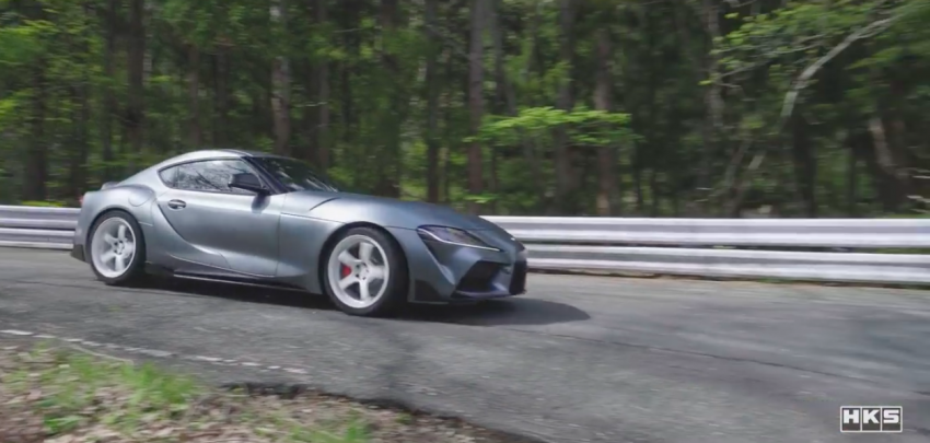 VIDEO: HKS tests exhaust, suspension for A90 Supra Image #961411