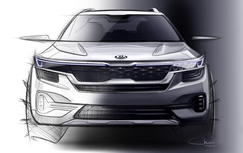 Kia drops first sketches of upcoming B-segment SUV Image #959378