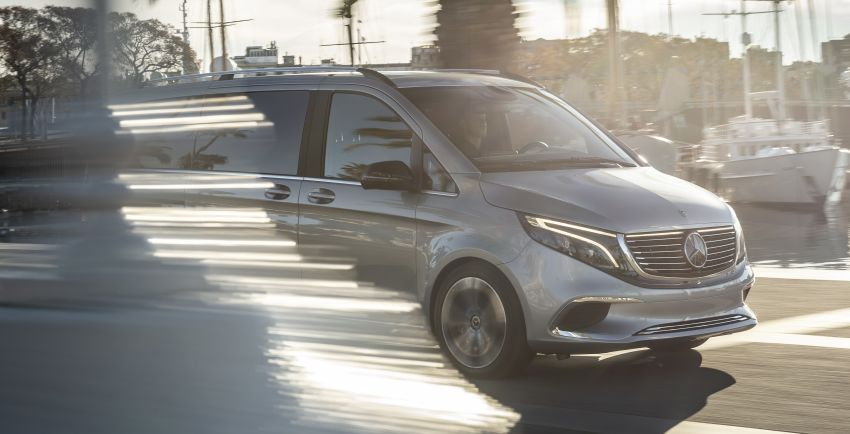 Mercedes-Benz Concept EQV – first public drive for electric MPV, production version debuts in Frankfurt Image #959340