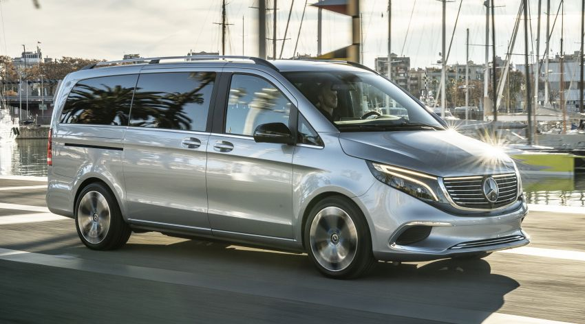 Mercedes-Benz Concept EQV – first public drive for electric MPV, production version debuts in Frankfurt Image #959341