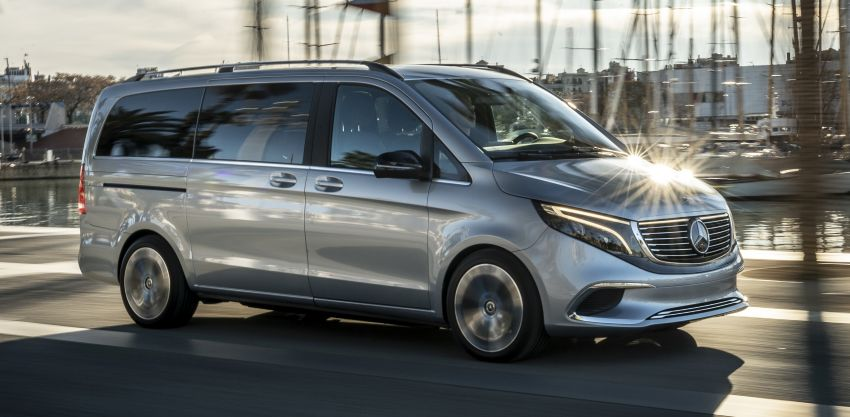 Mercedes-Benz Concept EQV – first public drive for electric MPV, production version debuts in Frankfurt Image #959343