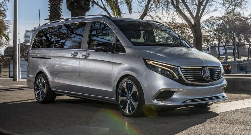 Mercedes-Benz Concept EQV – first public drive for electric MPV, production version debuts in Frankfurt Image #959344