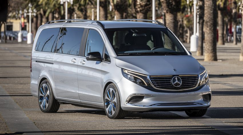 Mercedes-Benz Concept EQV – first public drive for electric MPV, production version debuts in Frankfurt Image #959345