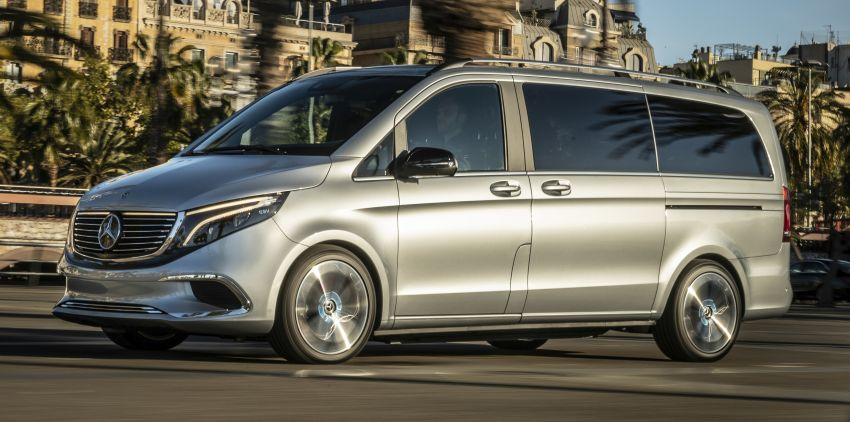 Mercedes-Benz Concept EQV – first public drive for electric MPV, production version debuts in Frankfurt Image #959347