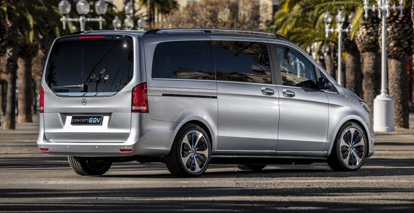 Mercedes-Benz Concept EQV – first public drive for electric MPV, production version debuts in Frankfurt Image #959349