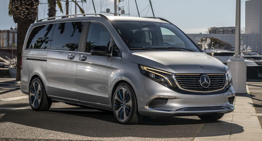 Mercedes-Benz Concept EQV – first public drive for electric MPV, production version debuts in Frankfurt Image #959350