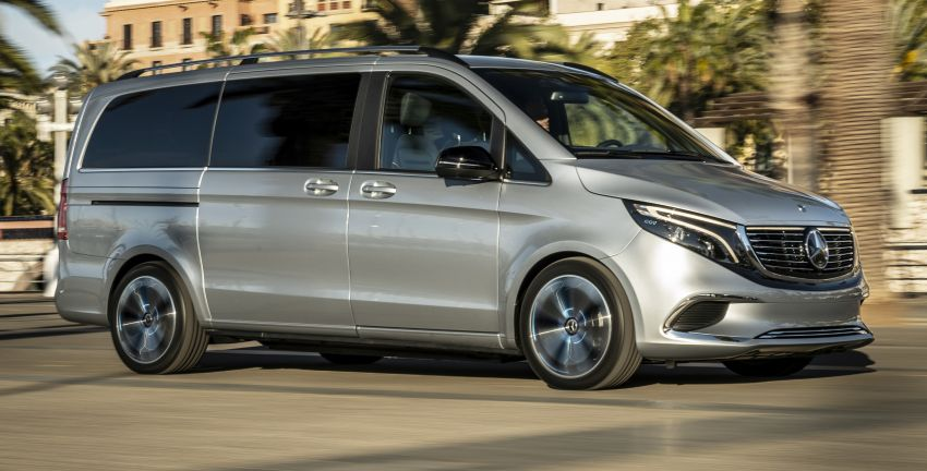 Mercedes-Benz Concept EQV – first public drive for electric MPV, production version debuts in Frankfurt Image #959357