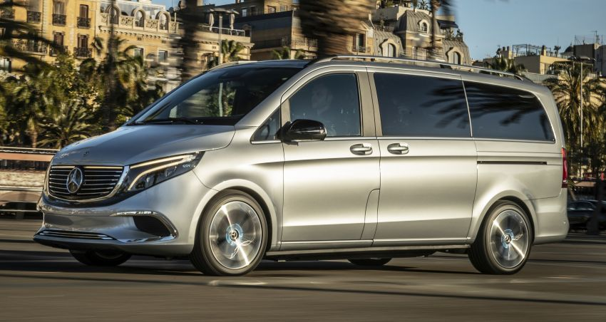 Mercedes-Benz Concept EQV – first public drive for electric MPV, production version debuts in Frankfurt Image #959358