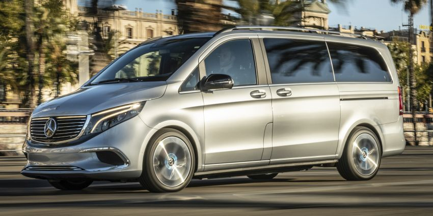 Mercedes-Benz Concept EQV – first public drive for electric MPV, production version debuts in Frankfurt Image #959360
