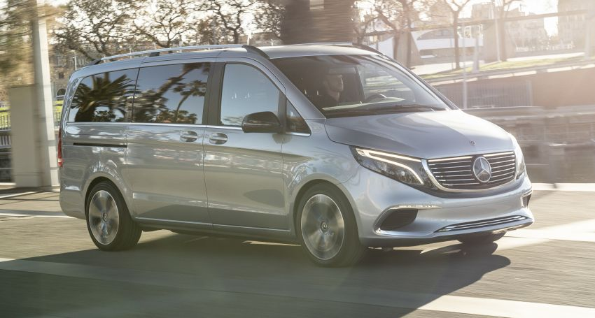 Mercedes-Benz Concept EQV – first public drive for electric MPV, production version debuts in Frankfurt Image #959339