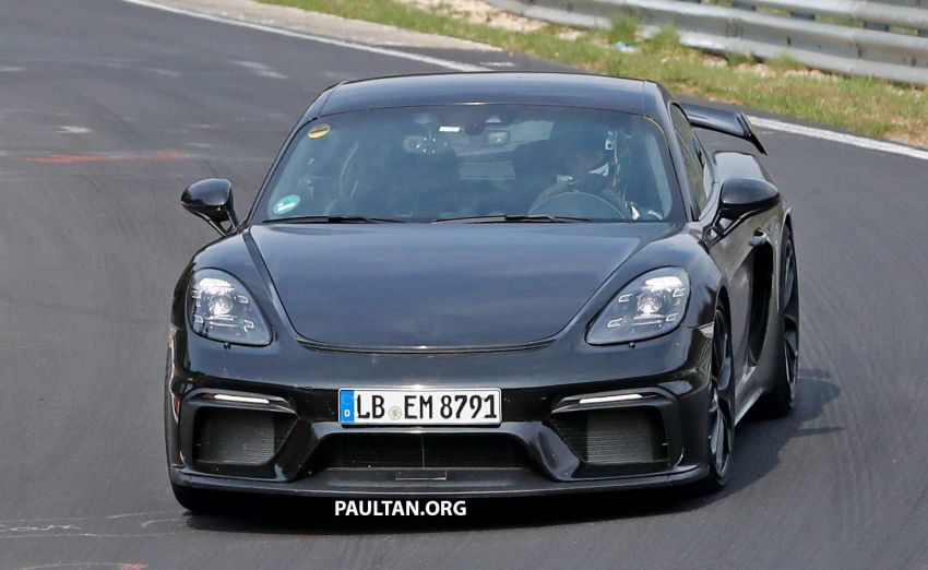 SPIED: Porsche 718 Cayman GT4 testing at the 'Ring Image #958330