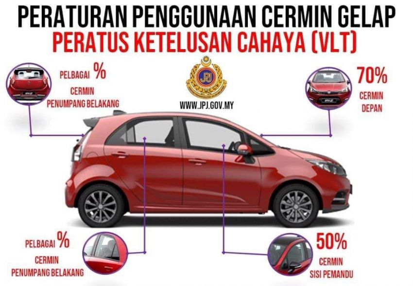 New window tint ruling for Malaysian vehicles – darker rear windows now allowed, pay RM5k to go full black Image #957375