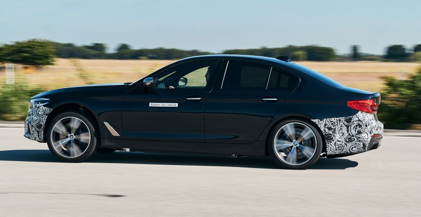 BMW Power BEV –  sub three-second, 710 hp all-electric experimental unit hidden under a 5 Series shell Image #976672