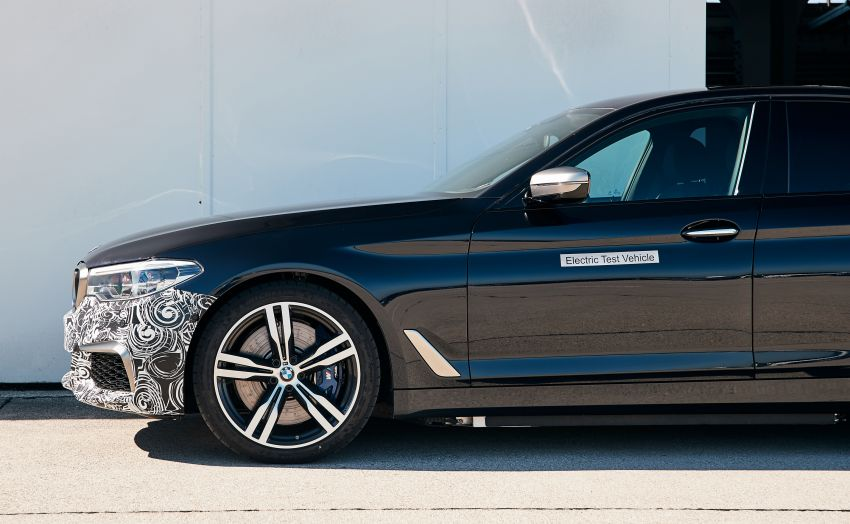 BMW Power BEV –  sub three-second, 710 hp all-electric experimental unit hidden under a 5 Series shell Image #976681
