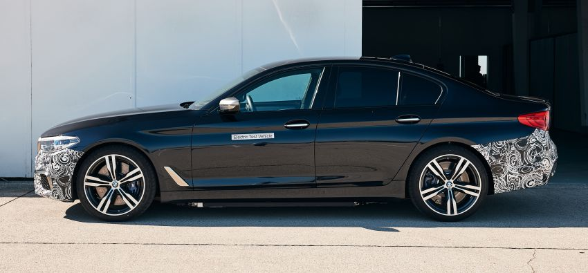BMW Power BEV –  sub three-second, 710 hp all-electric experimental unit hidden under a 5 Series shell Image #976682