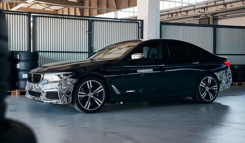 BMW Power BEV –  sub three-second, 710 hp all-electric experimental unit hidden under a 5 Series shell Image #976688
