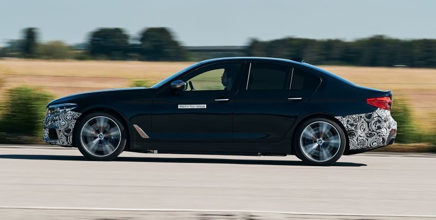 BMW Power BEV –  sub three-second, 710 hp all-electric experimental unit hidden under a 5 Series shell Image #976673