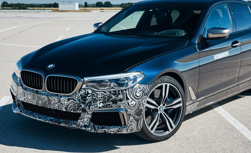BMW Power BEV –  sub three-second, 710 hp all-electric experimental unit hidden under a 5 Series shell Image #976674