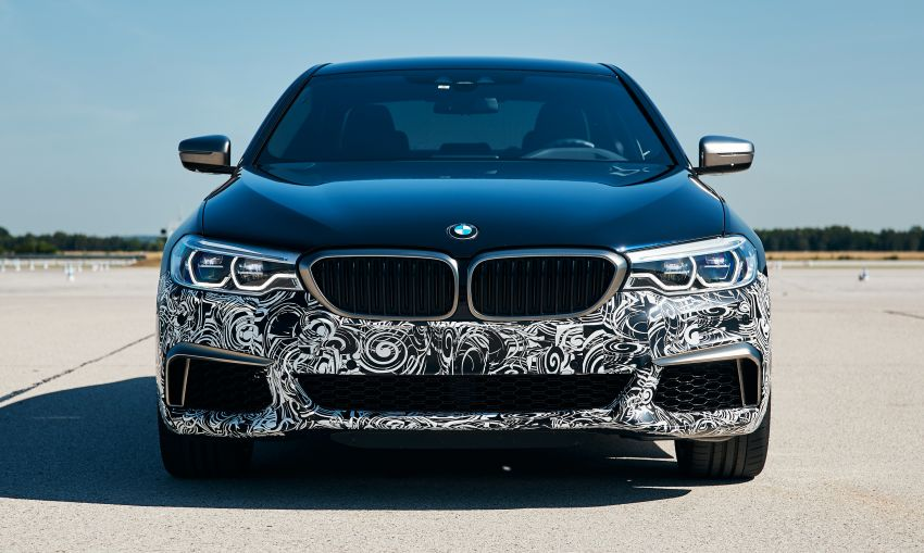 BMW Power BEV –  sub three-second, 710 hp all-electric experimental unit hidden under a 5 Series shell Image #976676