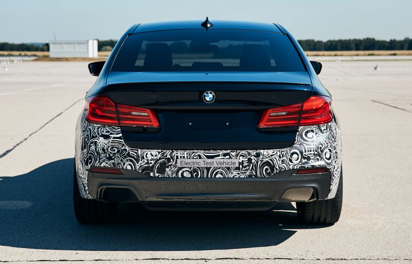 BMW Power BEV –  sub three-second, 710 hp all-electric experimental unit hidden under a 5 Series shell Image #976677