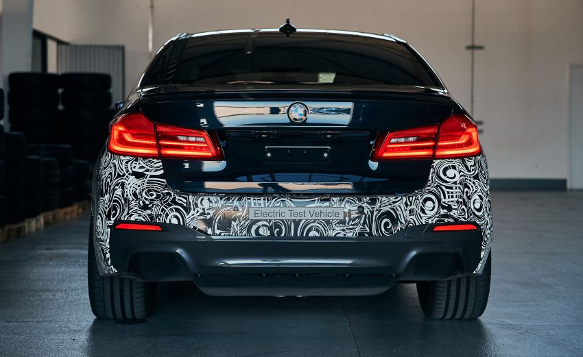BMW Power BEV –  sub three-second, 710 hp all-electric experimental unit hidden under a 5 Series shell Image #976680