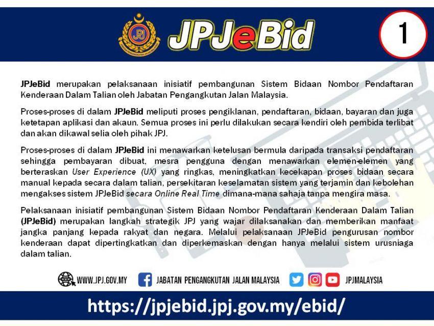 JPJ teruskan sistem bidaan nombor pendaftaran atas talian untuk Wilayah Persekutuan, VDN bermula 21 Jun Image #972567