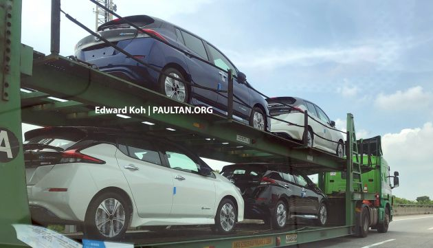 Spied 2019 Nissan Leaf On Transporters In Malaysia