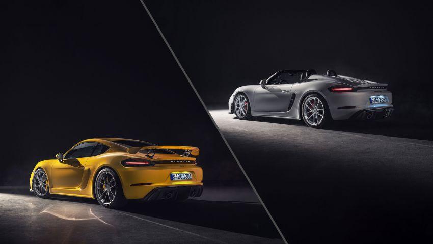 Porsche 718 Cayman GT4, Boxster Spyder unveiled Image #973349