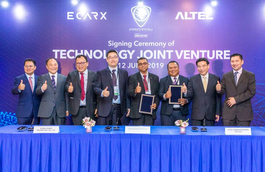 Proton to develop car connectivity solutions locally – inks tech JV agreement with Altel and China's ECar X Image #971182