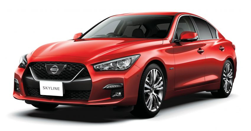 2019 Nissan Skyline facelift debuts in Japan – ProPilot 2.0; GT-R-inspired styling; up to 405 PS twin-turbo V6 Image #986034