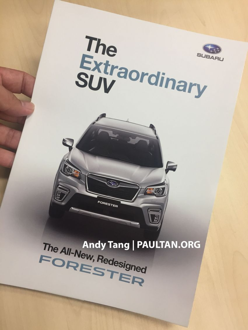 SPYSHOTS: 2019 Subaru Forester spotted in Malaysia – 3 variants; range-topper gets EyeSight at est RM165k Image #992300
