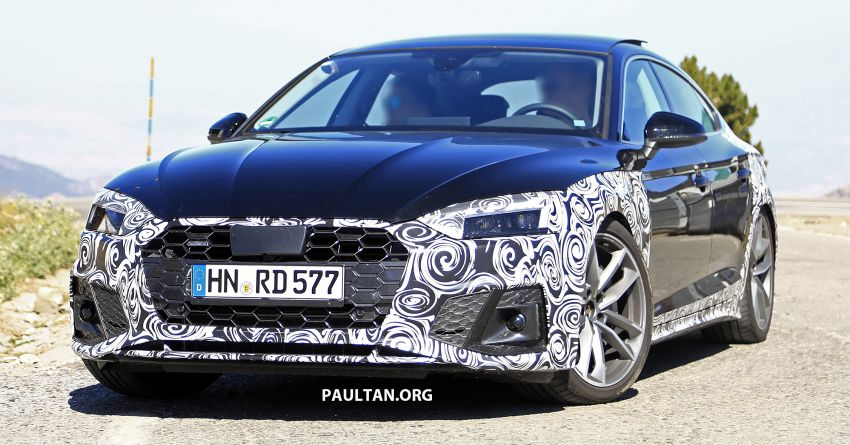 spied: 2020 audi a5 sportback facelift - big restyle! 2020