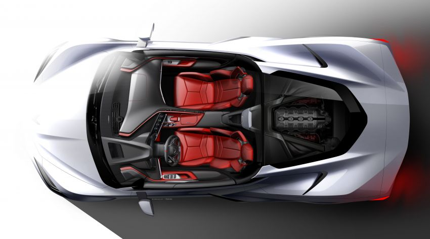 C8 Chevrolet Corvette Stingray goes mid-engined with 495 hp 6.2 litre NA V8, DCT, 0-100 km/h under 3 secs Image #989130