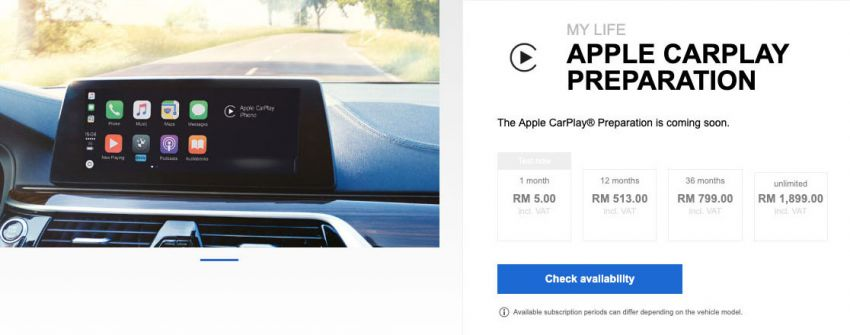 BMW Malaysia introduces Apple CarPlay Preparation – RM513 for 12 months to RM1,899 for unlimited plan Image #992720