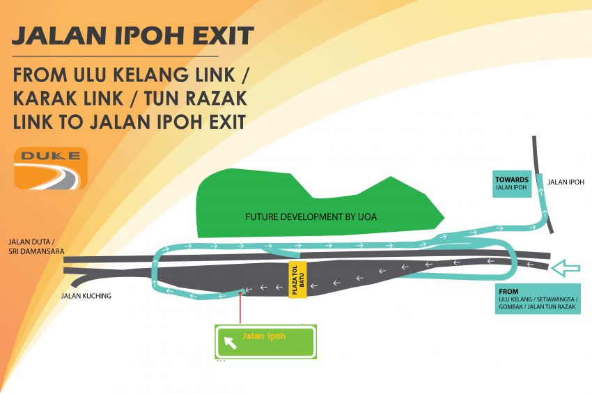 DUKE Highway Jalan Ipoh entry, exit ramps now open Image #984976