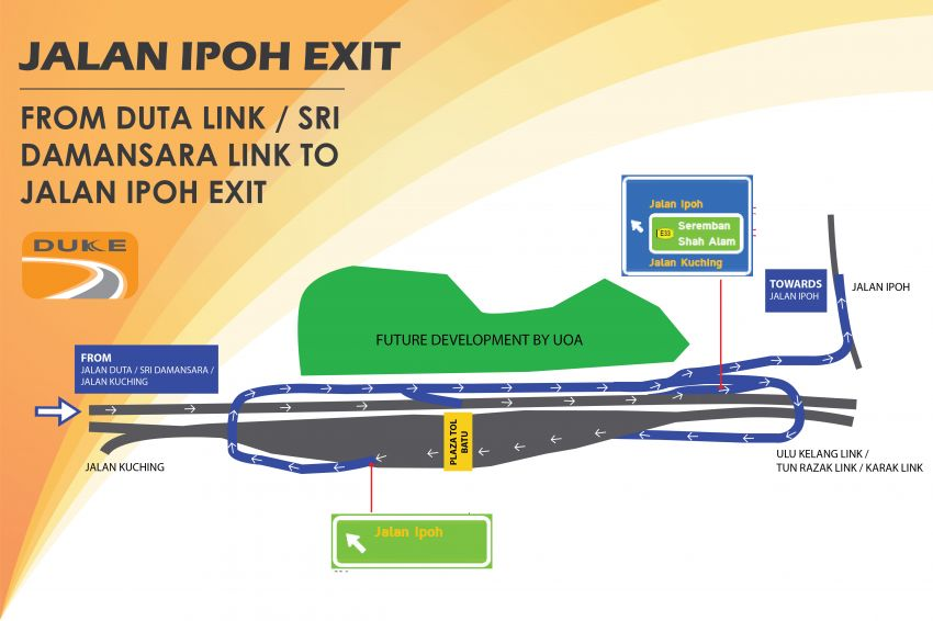 DUKE Highway Jalan Ipoh entry, exit ramps now open Image #984977
