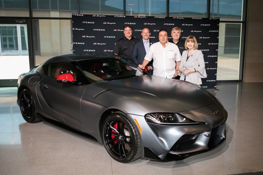 Man who paid RM8.67 mil for first A90 Supra collects it Image #979176