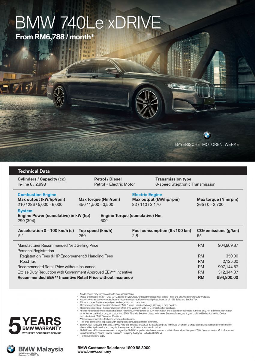 G12 BMW 7 Series LCI launched in Malaysia – 740Le xDrive Design Pure Excellence priced at RM594,800 Image #984056