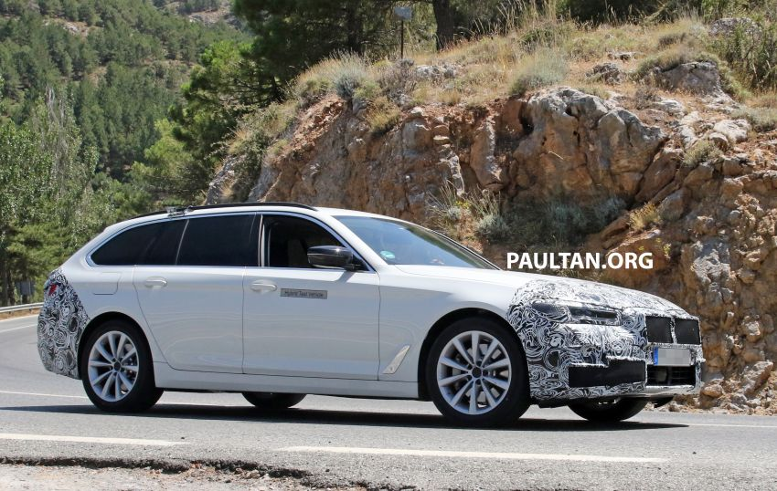 SPYSHOTS: G31 BMW 5 Series Touring LCI spotted Image #984996
