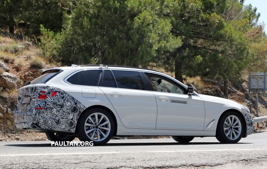 SPYSHOTS: G31 BMW 5 Series Touring LCI spotted Image #984998