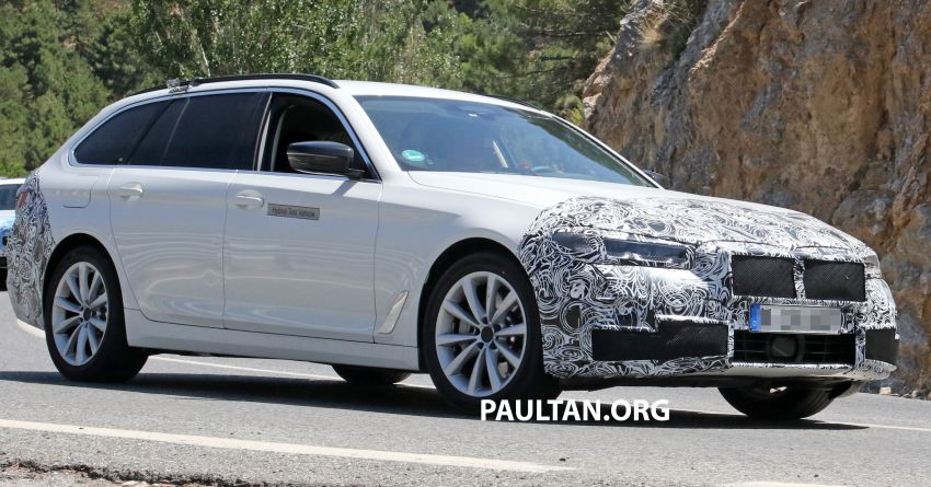 SPYSHOTS: G31 BMW 5 Series Touring LCI spotted Image #984995