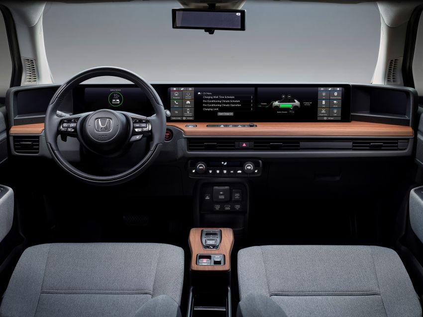 Honda e  shows off its dual 12.3-inch touchscreens Image #995740