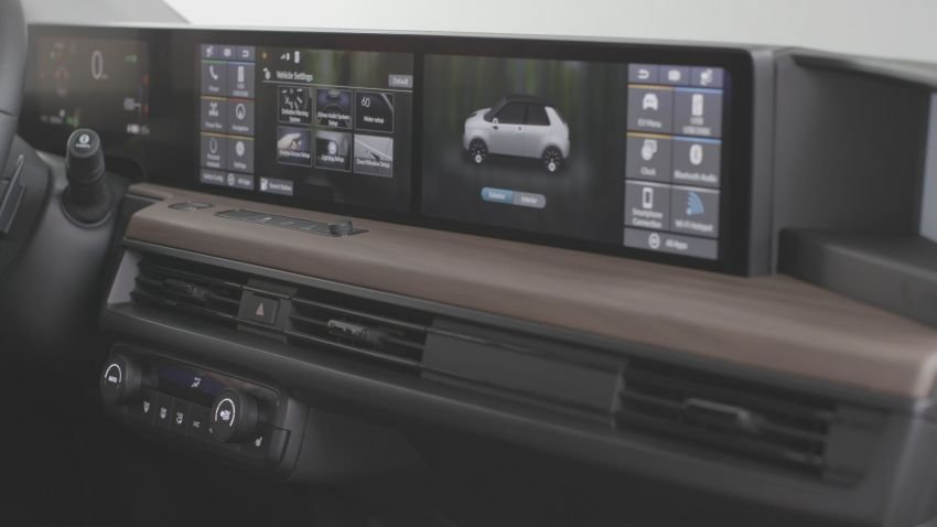 Honda e  shows off its dual 12.3-inch touchscreens Image #995746