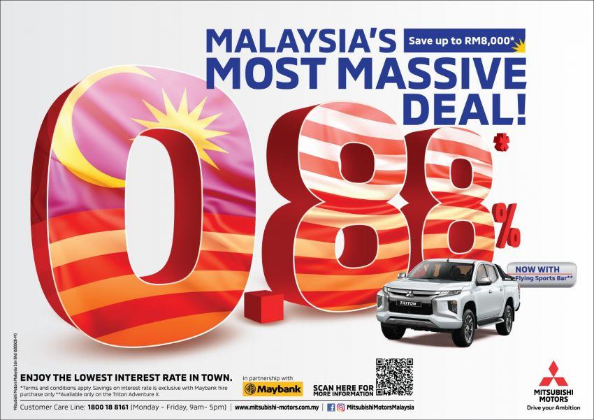 Mitsubishi Triton with 0.88% interest rate for Merdeka Image #982671
