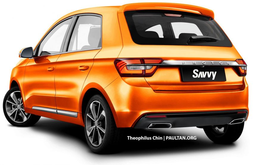 New Proton Savvy renders with Geely bits: yay or nay? Image #982861