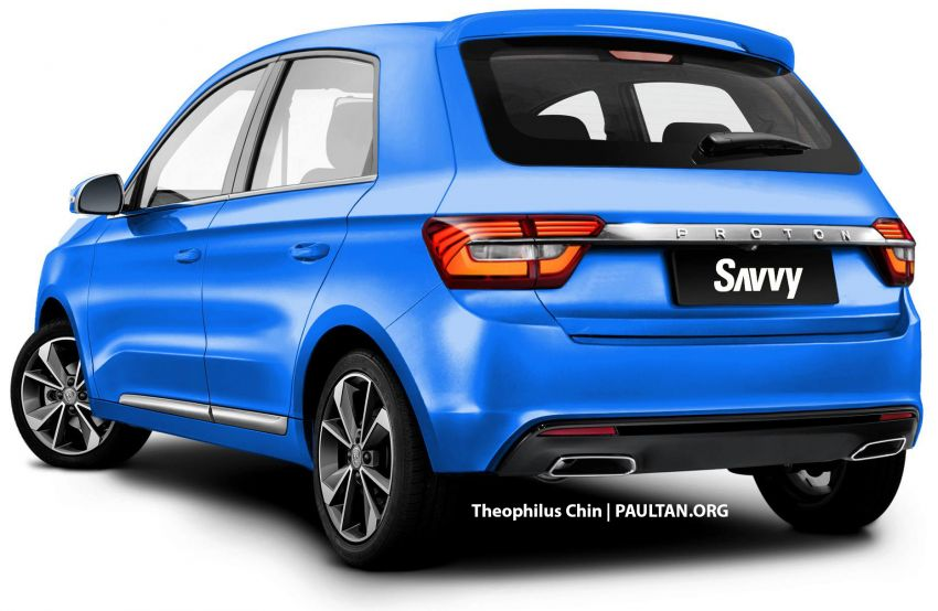 New Proton Savvy renders with Geely bits: yay or nay? Image #982862
