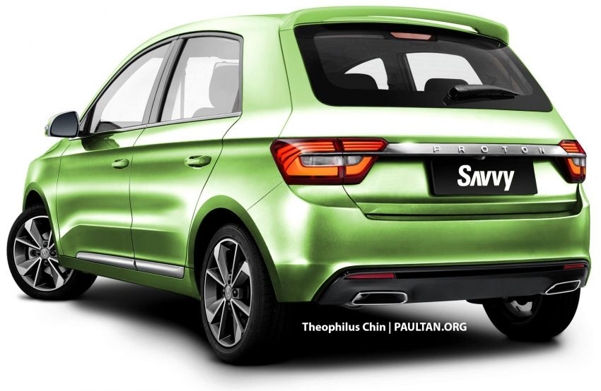 New Proton Savvy renders with Geely bits: yay or nay? Image #982863