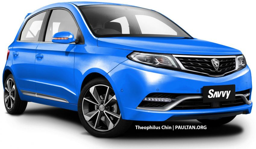 New Proton Savvy renders with Geely bits: yay or nay? Image #982864