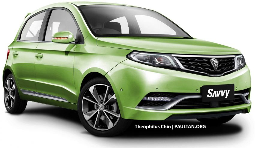 New Proton Savvy renders with Geely bits: yay or nay? Image #982865
